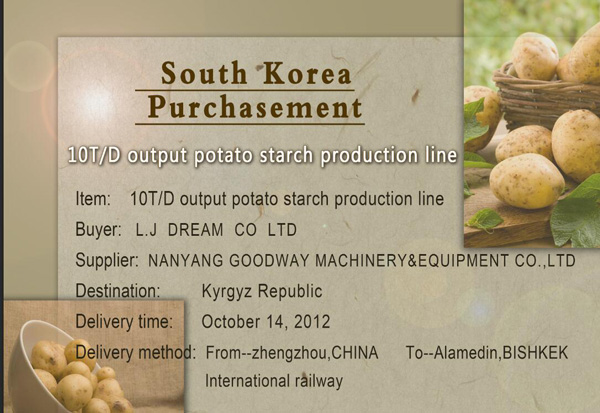 Potato Starch Production Line